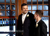 Mike and Steve's cozy, same-sex Calgary wedding at the Bow Valley Ranche