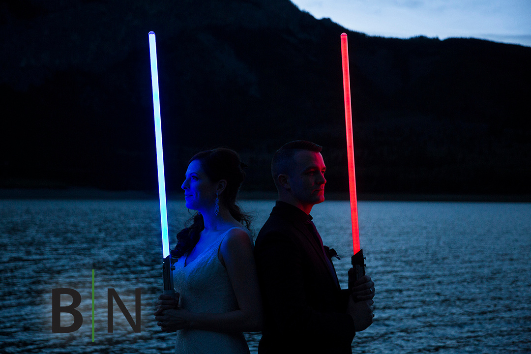 Star Wars wedding Photos Calgary